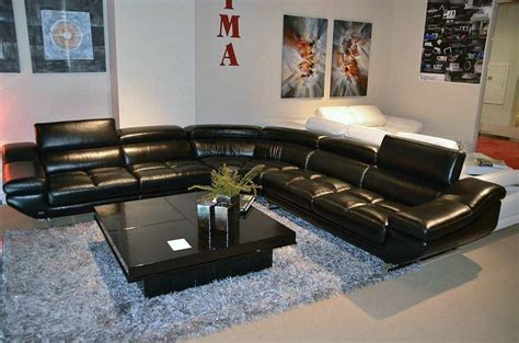 black leather sectional sofa vg 77 black leather sectional sofa leather sectionals