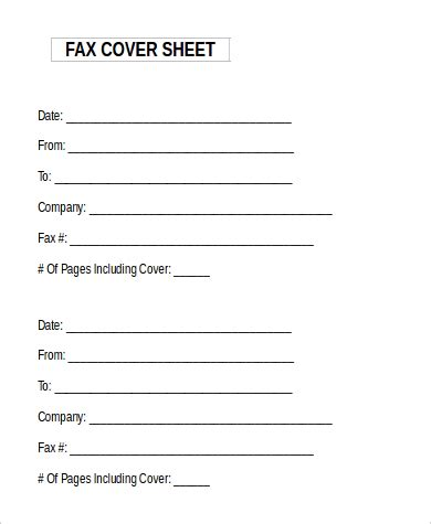 14842 generic fax cover sheet word document 9 sle fax cover sheets in microsoft word sle