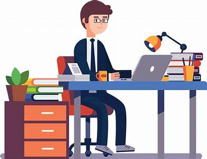 Clipart Employee Worker Computer Transparent Pinclipart
