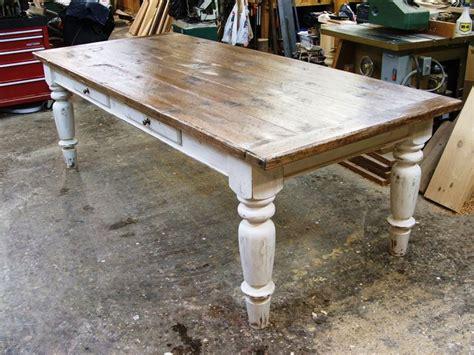 white scrubbed pine farmhouse table furniture redos