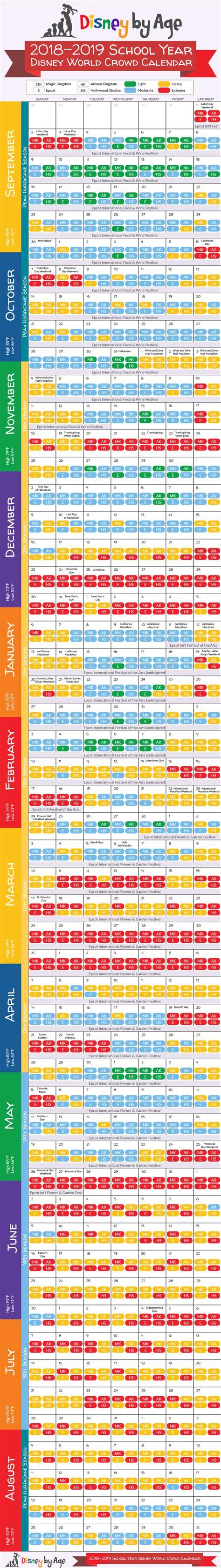 Disney World Crowd Calendar Disney World Crowd Calendar 2018 And 2019