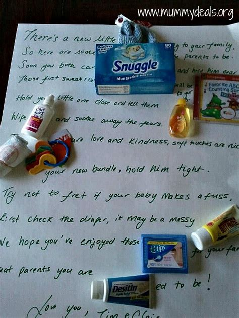 Baby Shower Poem with Candy