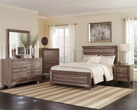 Bedroom Furniture by Coaster Kauffman Bedroom Collection Washed Taupe 204191