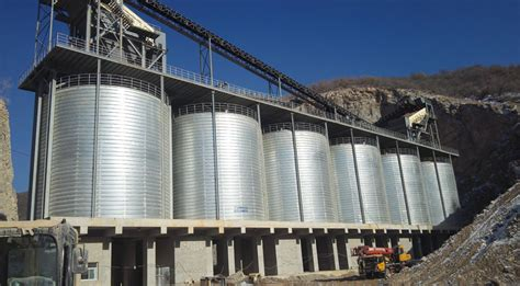 flyer insist   high quality steel  calcined petroleum coke storage silo