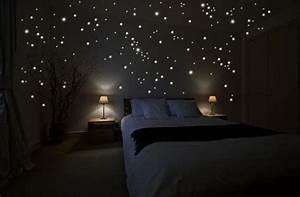 Sternenhimmel Fürs Schlafzimmer : wandsticker der sternenhimmel im schlafzimmer schlafgadgets ~ Michelbontemps.com Haus und Dekorationen