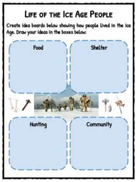 ice age facts worksheets  kids historical information