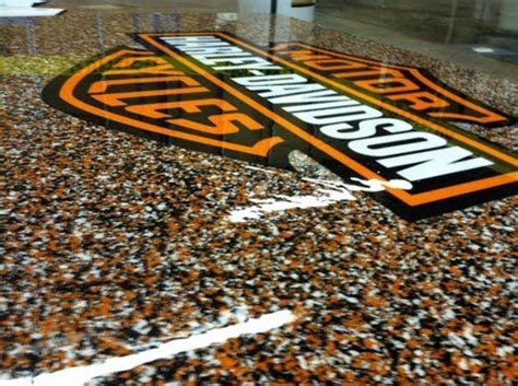 Harley Davidson Epoxy Chip Flooring, Abilene Texas   Epoxy