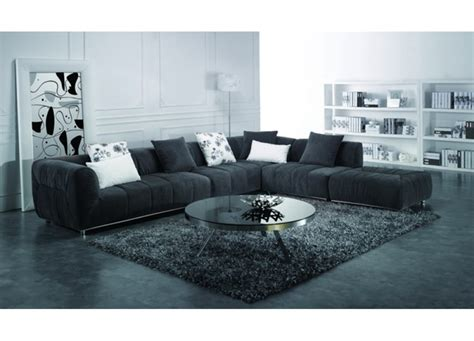 livingroom sectional black fabric sectional sofa living room