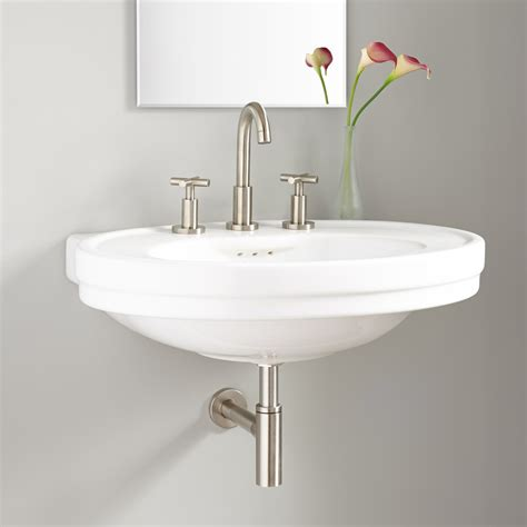 Cruzatte Porcelain Wallmount Sink  Wallmount Sinks