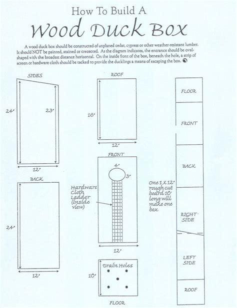 wood duck box plans