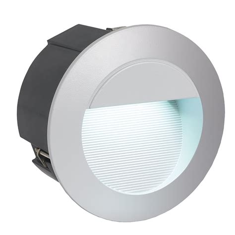 eglo 95233 zimba exterior ip65 led round recessed wall light