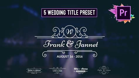 animated wedding title preset premiere pro motion