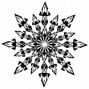 snowflake clipart black and white – Clipart Free Download