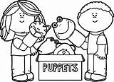 Puppet Coloring Puppets Playing Marionette Drawing Theater Getdrawings Printable Getcolorings Wecoloringpage Fresh sketch template