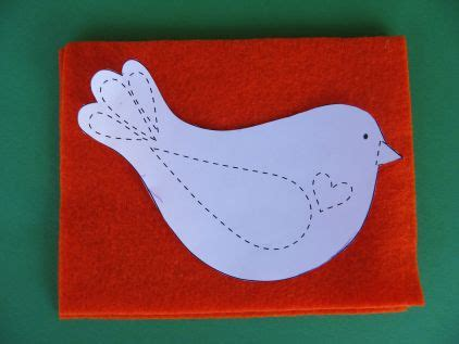 felt birdie advent calendar tutorial