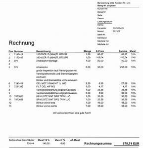 Werkstatt Rechnung : tech talk werkstattfrage werkstatt motorrad ~ Themetempest.com Abrechnung