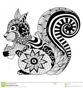 t shirt design programm kostenlos squirrel zentangle style for coloring book t shirt design logo stock vector