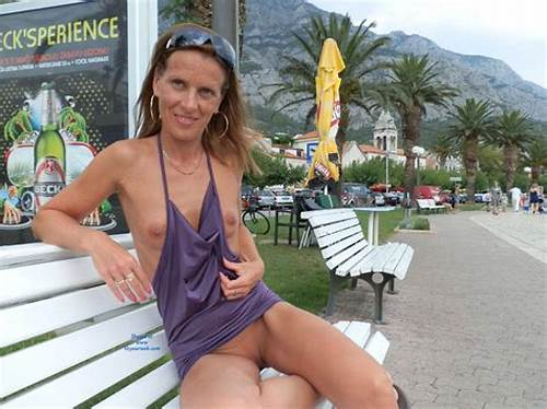 Nudist Outside Voyeur Clip Of A Blue Haired With Large Breasty #Sexy #Mature #Sitting #Nude #In #Public