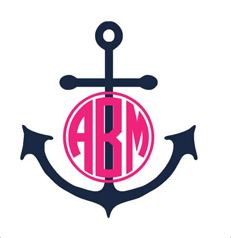 Fetco Home Decor Monogram Wall by Anchor Monogram Decal Large Vinyl Wall Decal Preppy