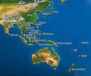 New Zealand Fiji and Australia Map