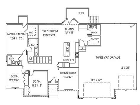 open floor plans one single open floor plans ranch house floor plans with
