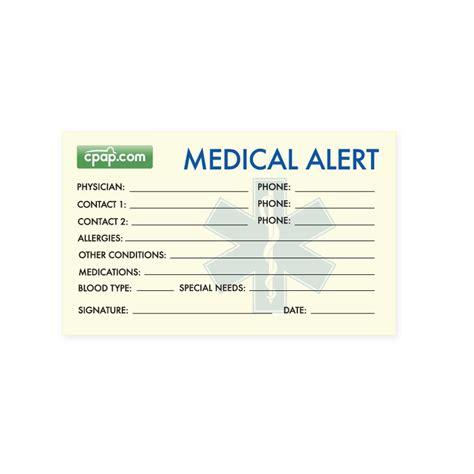 Alert Card Template by Cpap Cpap Sleep Apnea Alert Wallet Card