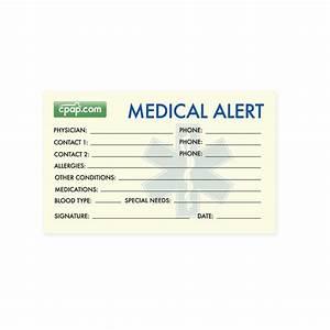 medical alert wallet card template 3 best professional With medical alert wallet card template