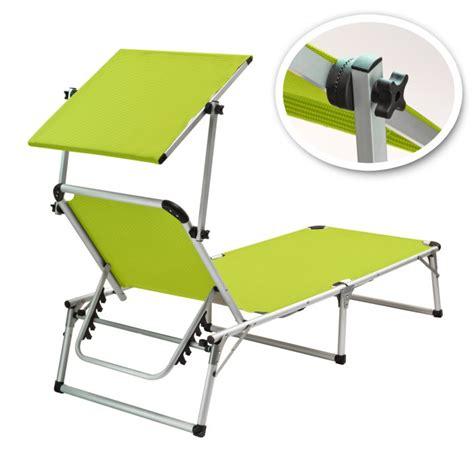 chaise longue avec pare soleil chaise longue transat avec pare soleil vert anis quot colorado