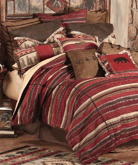 rustic bedding sets lodge log cabin bedding