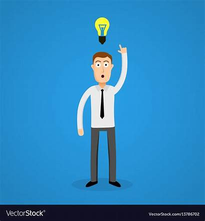 Clever Idea Bulb Vector Business Royalty