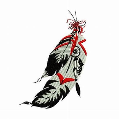 Native Feather American Indian Feathers Designs Embroidery