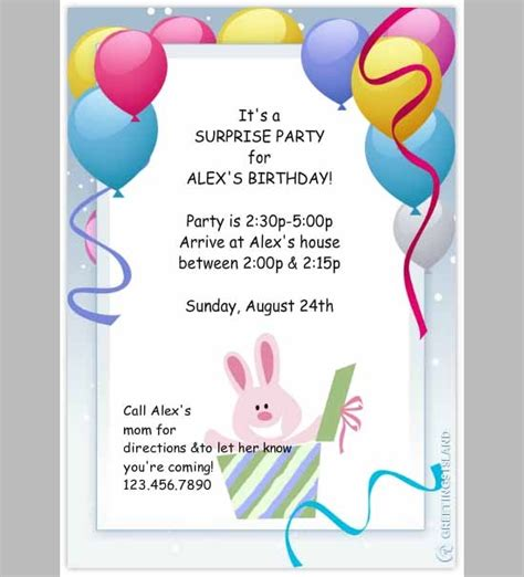 birthday invitation card template pdf invitation template in psd pdf