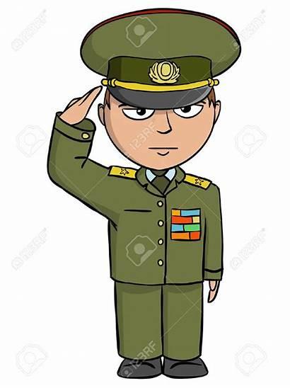 Soldier Clipart Boy Uniform Military Salute Clip
