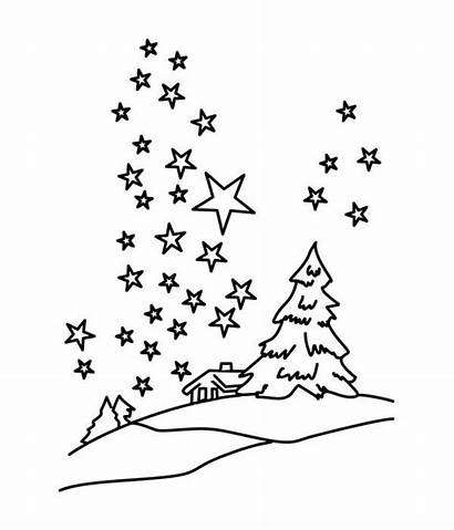Sky Coloring Night Stars Winter Starry Pages