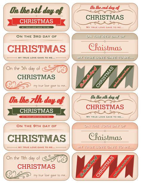 12 days of christmas tag downloads november december