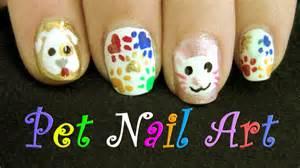 Cat dog nail art design cute pets and