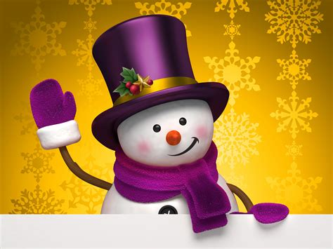 Animated Snowman Wallpaper - snowman black hat happy wallpapers hd desktop