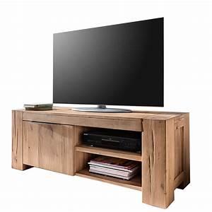 Tv lowboard 130cm tv schrank eiche natur ge lt for Tv schrank eiche