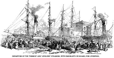 Quarantine Boat Definition by Immigrants To Canada In Nineteenth Century Ships