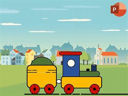 Train Toy Powerpoint Animation Motion Dribbble Template