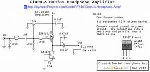 Class A Mosfet Headphone Amplifier