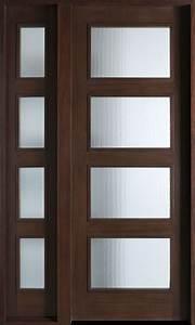 Modern Front Door Custom - Single with 1 Sidelite - Solid