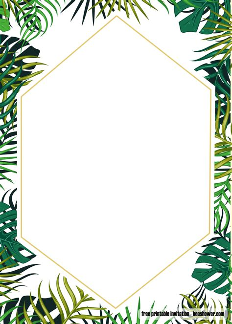 printable tropical baby shower invitation template