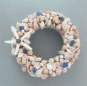 Nautical Seashell Wreath Or Shell Candle Ring With
