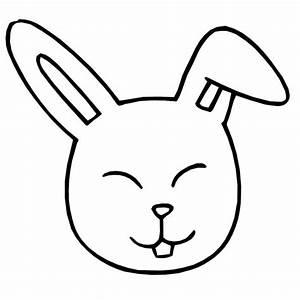 Cara de conejo para colorear e imprimir
