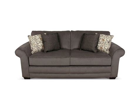 Ash Grey Microfiber English Sleeper Sofa With Grey And