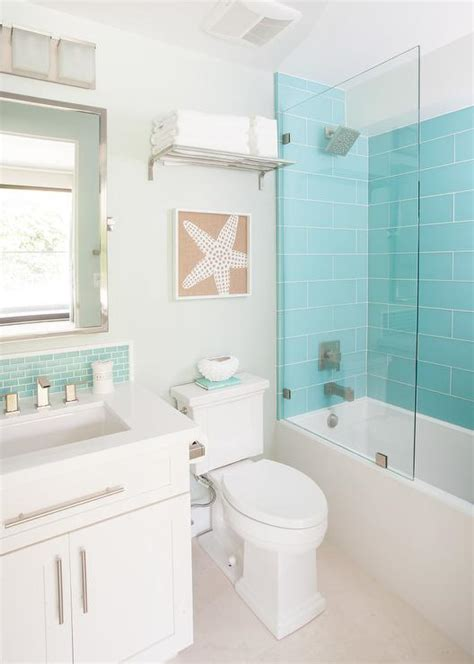 turquoise glass shower tiles  glass partition