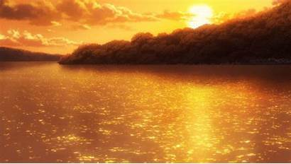 Anime Sunset Animated Scenery Animation Sun Gifs