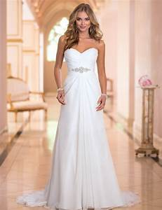 long lace a line wedding dress 2016 vintage simple pleat With simple sexy wedding dresses