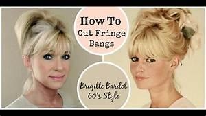 How To Cut Fringe Bangs  Demo  Brigitte Bardot 60 U0026 39 S Style